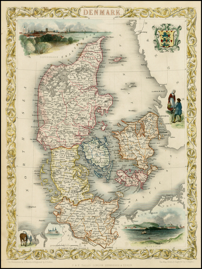 47-Scandinavia Map By John Tallis