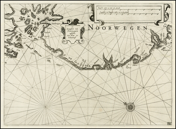 39-Norway Map By Willem Janszoon Blaeu