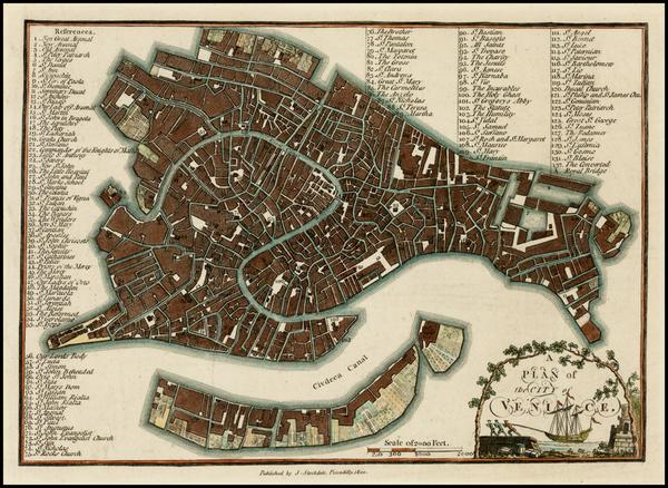 92-Italy Map By John Stockdale