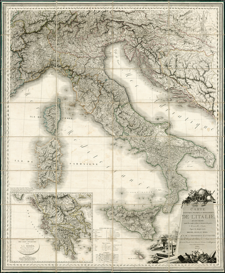 6-Italy and Balearic Islands Map By J. A. Orgiazzi