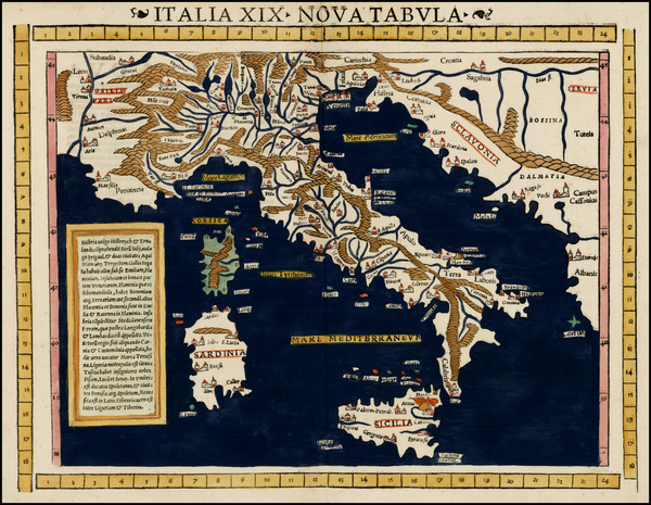 67-Balkans, Italy and Balearic Islands Map By Sebastian Munster
