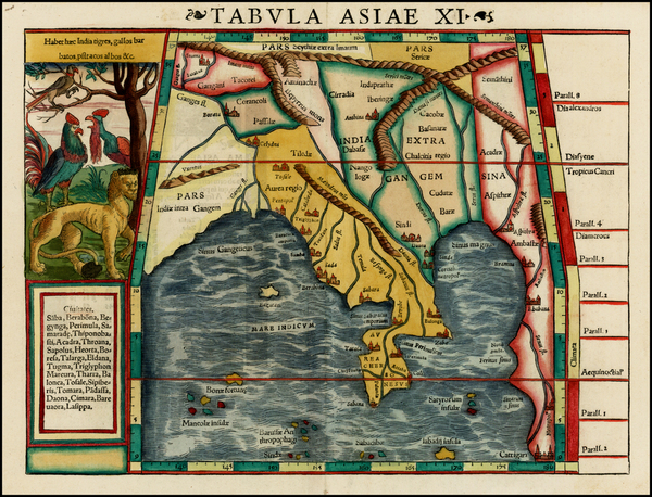 6-India and Southeast Asia Map By Sebastian Munster