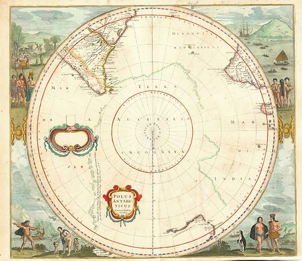 79-World, Polar Maps, Australia & Oceania, Pacific, Australia and New Zealand Map By Henricus