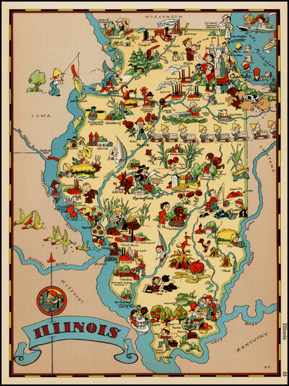 93-Midwest Map By Ruth Taylor White