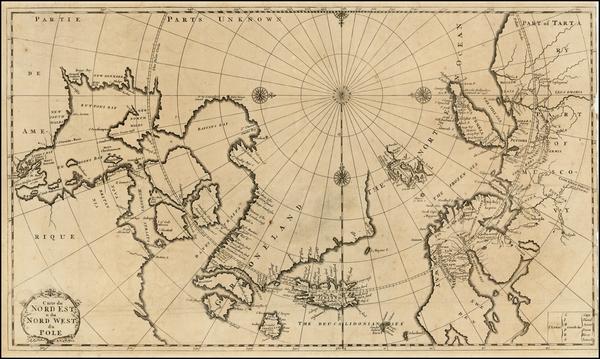 98-Canada, Russia, Scandinavia, Iceland and Balearic Islands Map By J.F. Bernard