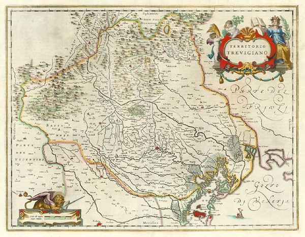 64-Europe and Italy Map By Willem Janszoon Blaeu