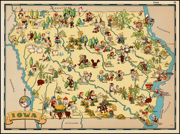 79-Midwest and Plains Map By Ruth Taylor White