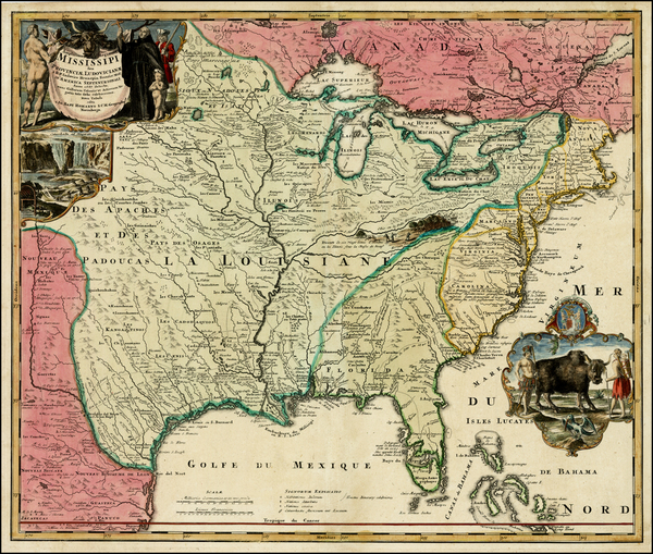 41-United States, South, Southeast, Texas, Midwest, Plains and Southwest Map By Johann Baptist Hom