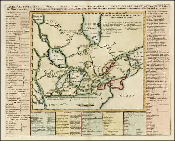 3-Midwest, Plains and Canada Map By Henri Chatelain
