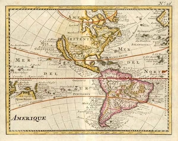 96-South America, Australia & Oceania, Australia, Oceania, California and America Map By Anony