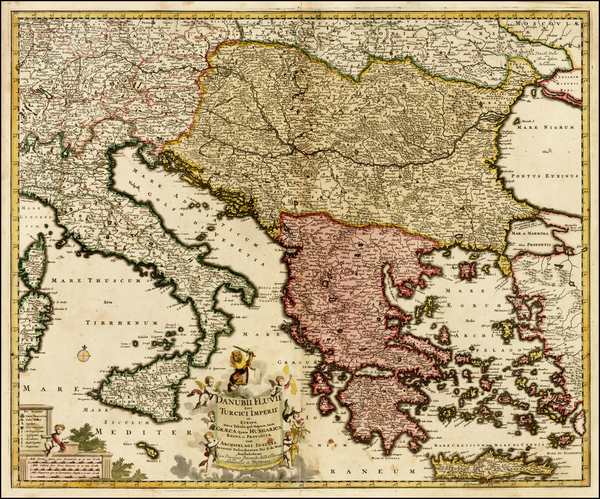 23-Austria, Hungary, Balkans, Italy, Greece, Turkey and Balearic Islands Map By Frederick De Wit