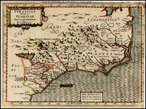59-Southeast Map By Johannes Cloppenburg