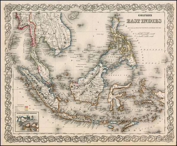 1-Southeast Asia, Philippines and Other Pacific Islands Map By Joseph Hutchins Colton