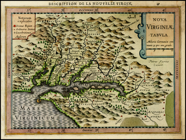 24-Mid-Atlantic and Southeast Map By Johannes Cloppenburg
