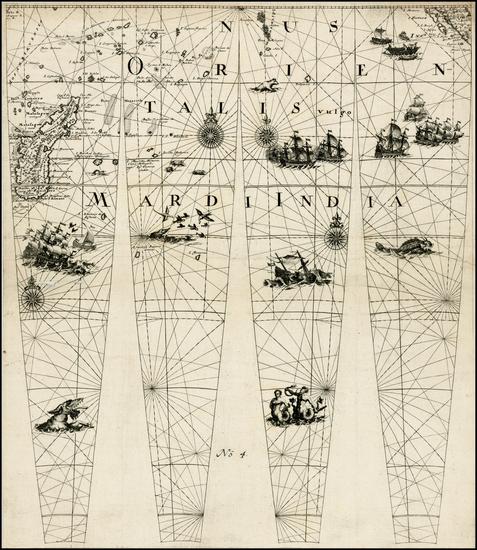 6-Indian Ocean, Africa, Africa and African Islands, including Madagascar Map By Johann Friedrich