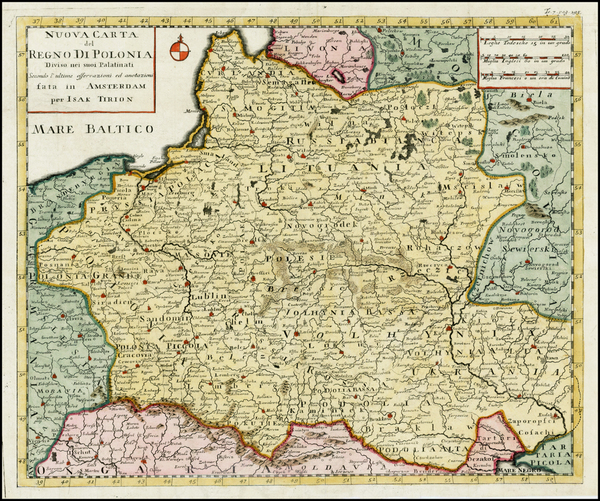 51-Poland and Ukraine Map By Isaak Tirion