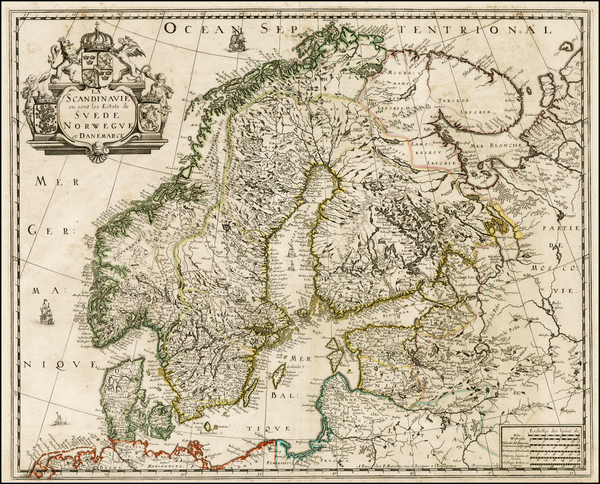 28-Baltic Countries and Scandinavia Map By Pierre Mariette