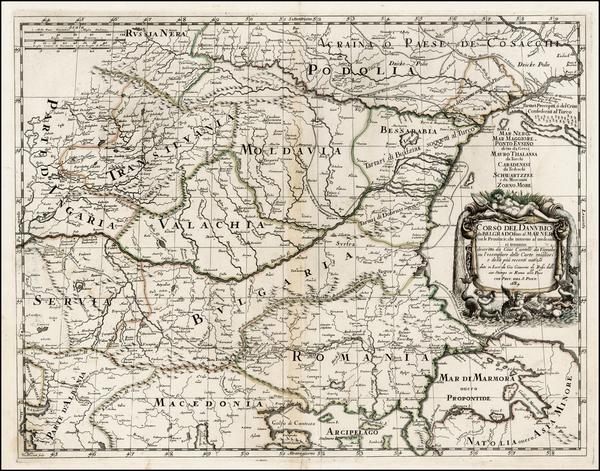 65-Ukraine, Romania and Balkans Map By Giacomo Giovanni Rossi