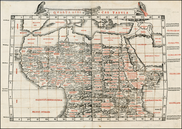 45-Africa, Egypt, North Africa, East Africa and West Africa Map By Bernardus Sylvanus