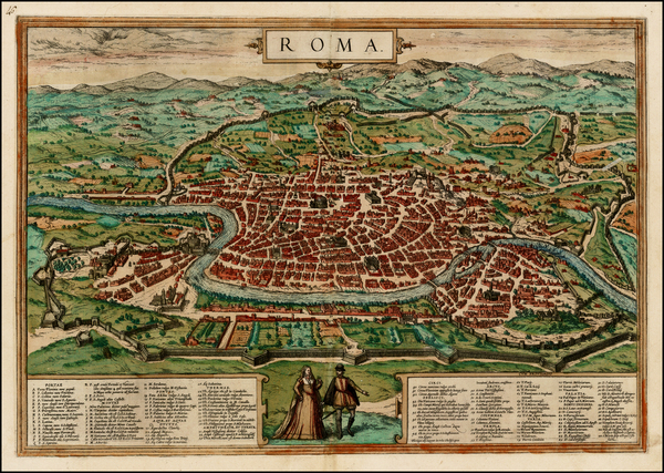 10-Italy Map By Georg Braun  &  Frans Hogenberg