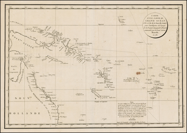 71-Southeast Asia, Other Islands, Australia and Other Pacific Islands Map By Jean Francois Galaup