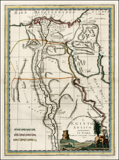 64-Egypt Map By Giovanni Maria Cassini
