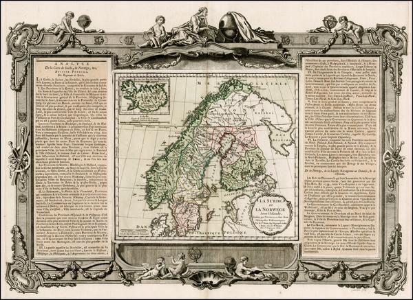 67-Scandinavia Map By Louis Brion de la Tour