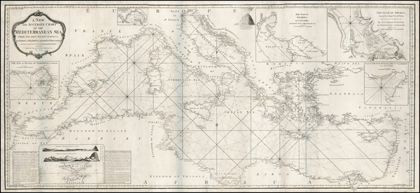 54-Italy, Greece, Turkey, Balearic Islands and Turkey & Asia Minor Map By Laurie & Whittle