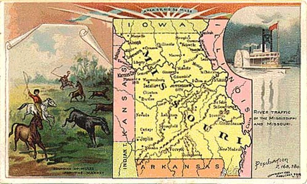 51-Midwest, Plains and Missouri Map By Arbuckle Brothers Coffee Co.