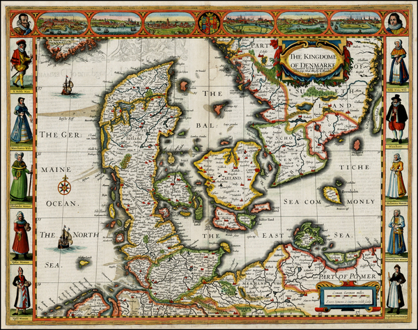 87-Balkans and Scandinavia Map By John Speed