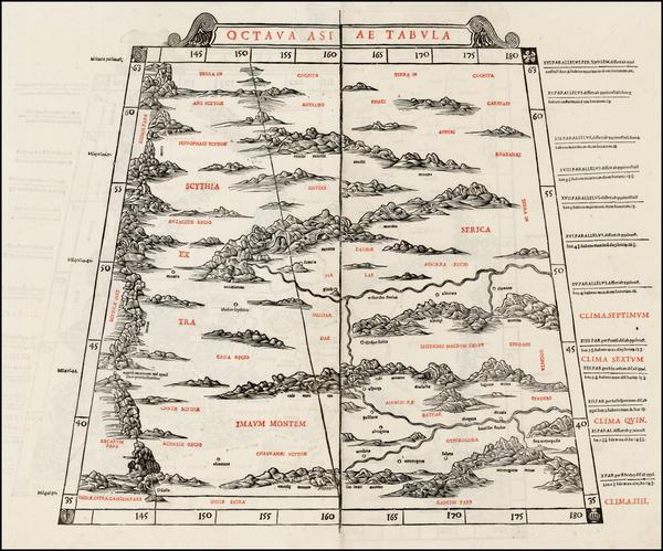 87-India and Central Asia & Caucasus Map By Bernardus Sylvanus