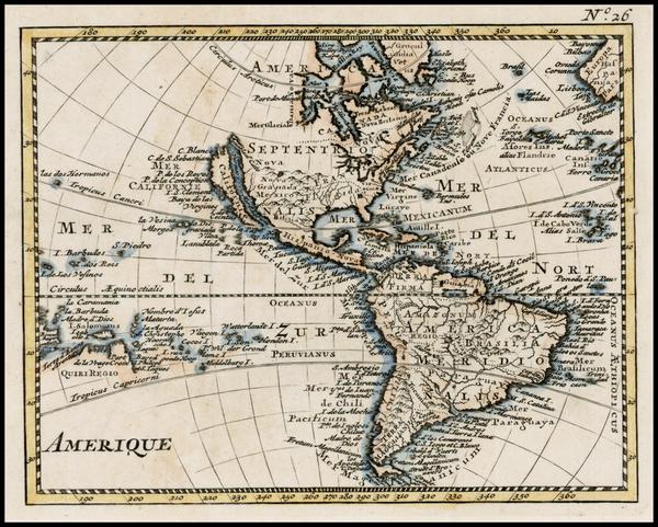 17-Western Hemisphere, South America, Australia & Oceania, Oceania and America Map By Anonymou