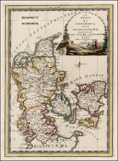 70-Scandinavia Map By Giovanni Maria Cassini
