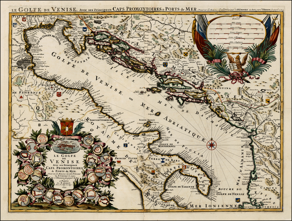 95-Balkans, Italy and Balearic Islands Map By Alexis-Hubert Jaillot