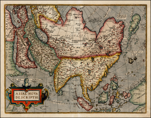 65-Asia, Asia, Australia & Oceania and Oceania Map By Abraham Ortelius