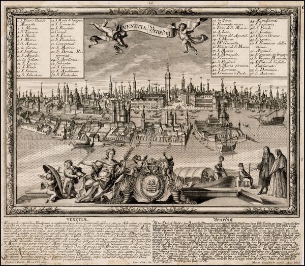 Italy and Venice Map By Friederich Bernhard Werner / Martin Engelbrecht