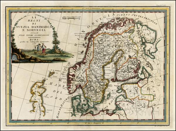 53-Scandinavia Map By Giovanni Maria Cassini