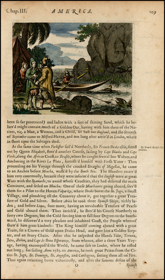56-United States, New England, South America and America Map By John Ogilby