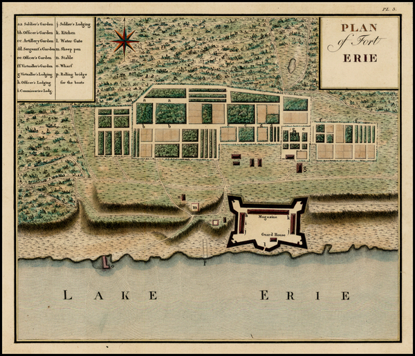 0-New York, New York State and American Revolution Map By Victor George Henri Collot