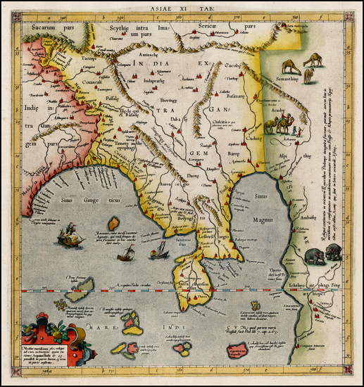 54-India, Southeast Asia and Other Islands Map By  Gerard Mercator