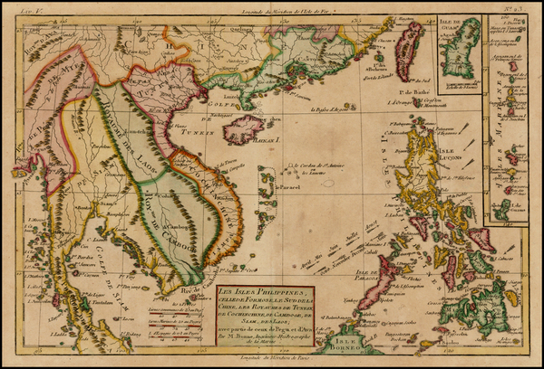 89-Southeast Asia, Philippines and Other Pacific Islands Map By Rigobert Bonne