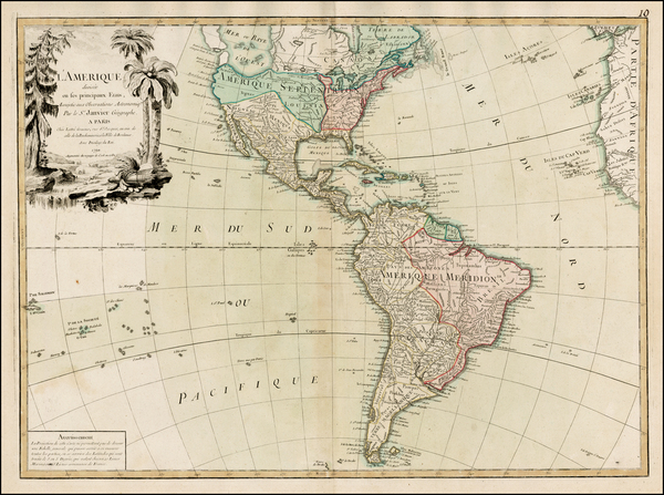 36-South America and America Map By Jean Janvier / Jean Lattré