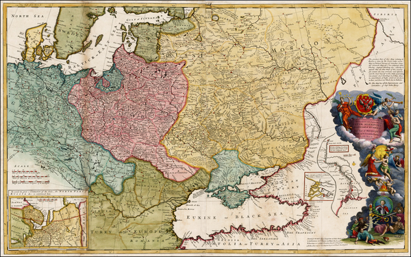 88-Germany, Poland, Russia, Ukraine, Baltic Countries, Balkans and Scandinavia Map By Herman Moll
