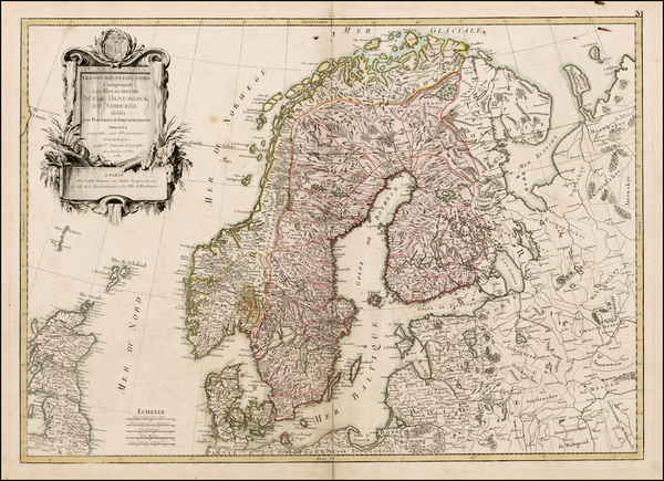 30-Scandinavia Map By Jean Janvier