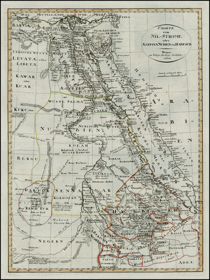 8-Egypt Map By Weimar Geographische Institut