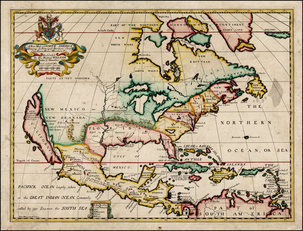 59-North America and California Map By Edward Wells