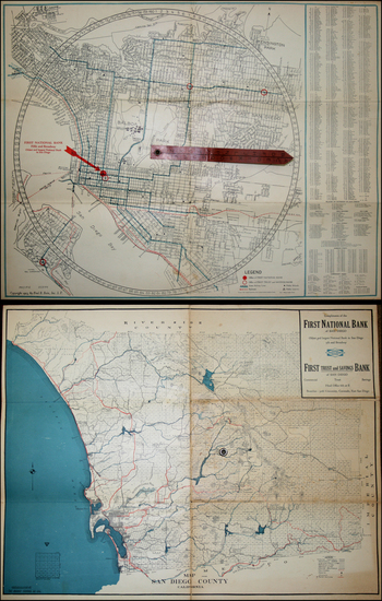 87-California Map By Rodney Stokes / Fred B. Bain Inc.