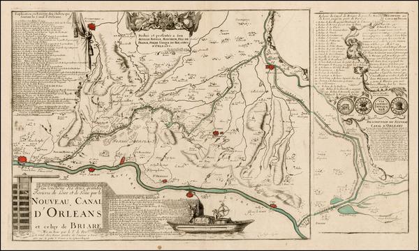52-France Map By Nicolas de Fer