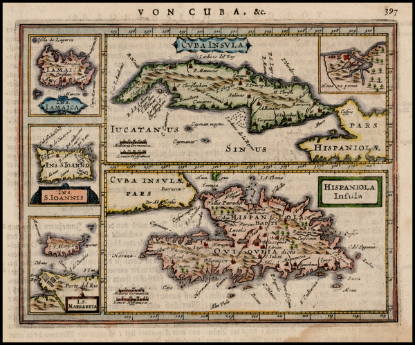 79-Caribbean, Cuba and Hispaniola Map By Jan Jansson