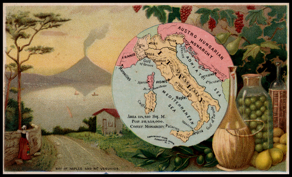 68-Italy Map By Arbuckle Brothers Coffee Co.